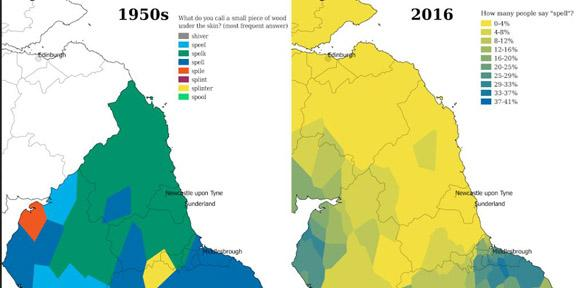 Cambridge app maps decline in regional diversity of English