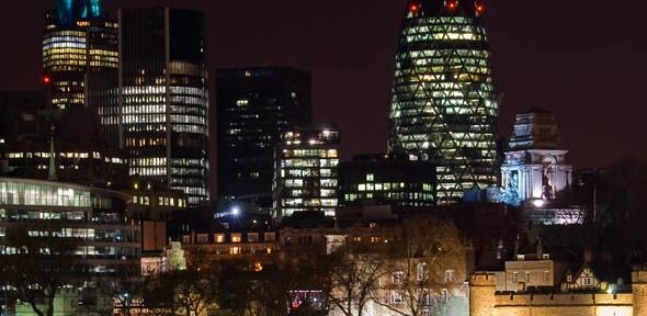 The Square Mile by night