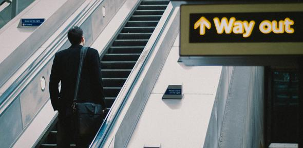Way Out sign on London Underground