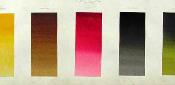 Winsor and Newton catalogue with painted samples
