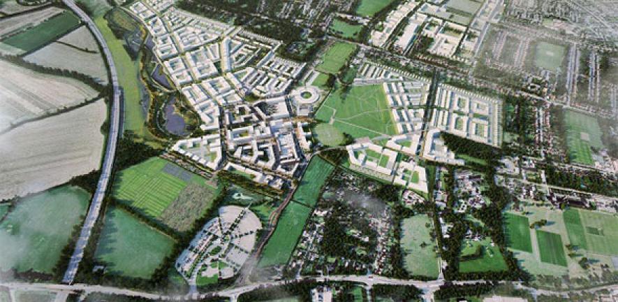 Aerial image of Eddington, Cambridge
