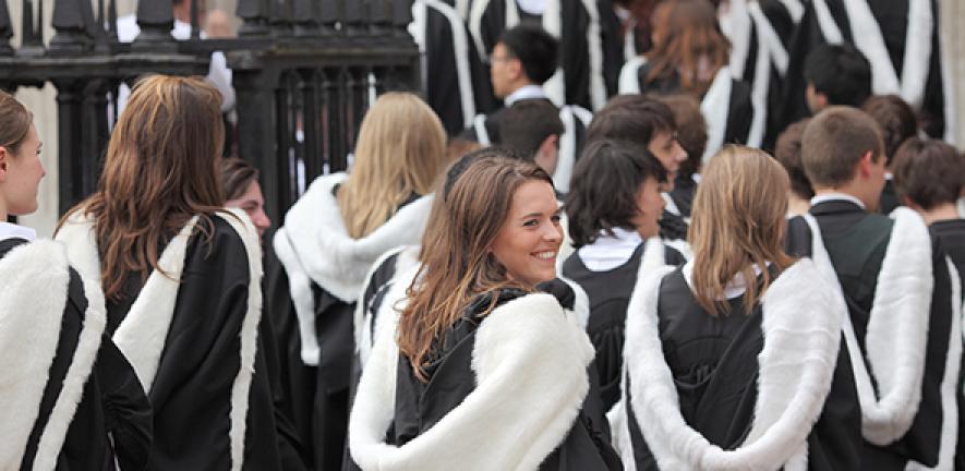 Students graduating from Cambridge