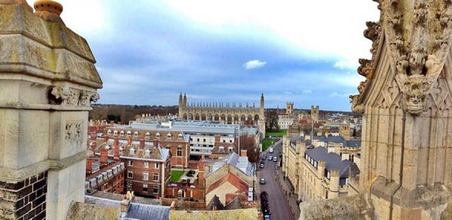 Cambridge skyline.