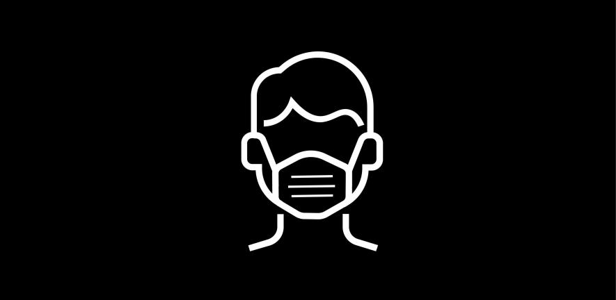 Person wearing a face mask icon