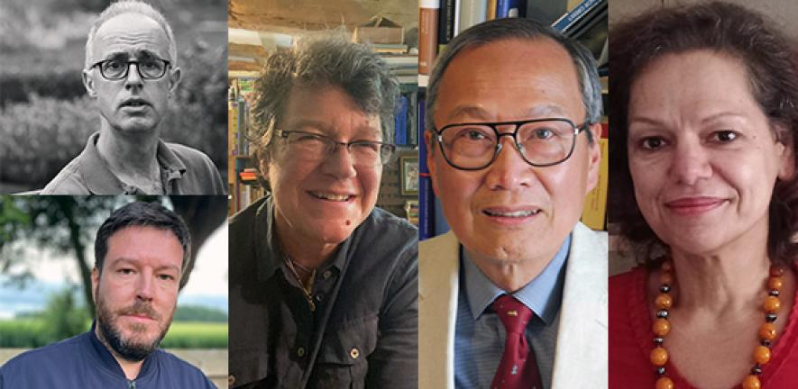 Clockwise: Professor Holton, Professor Franklin, Professor Lieu, Professor Tsimpli, Professor Bell.