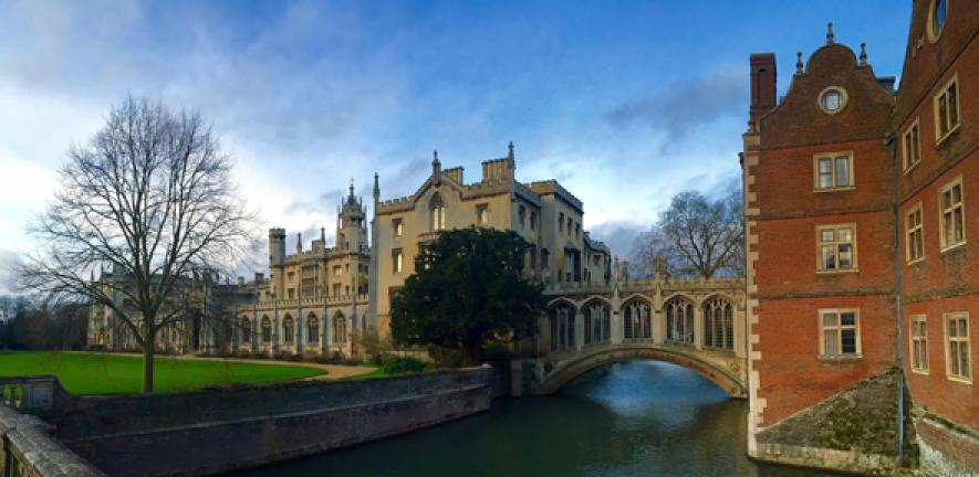 St John's College from the Kitchen Bridge. Photographer: Silas Hope.