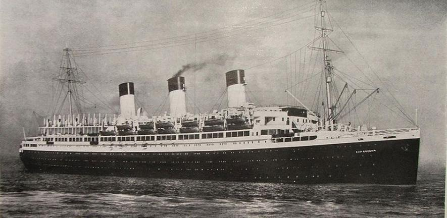 The Cap Arcona ocean liner, used by the Hamburg-South America line until World War II