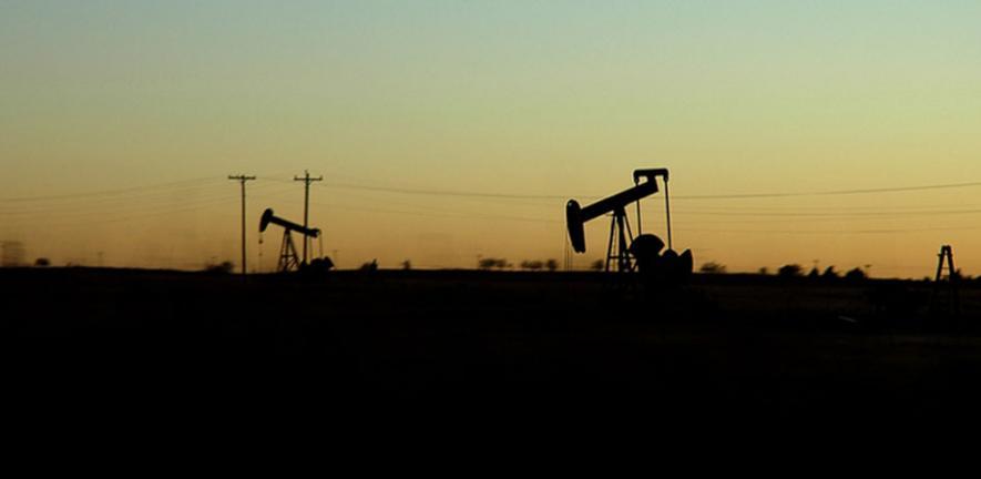 Oklahoma Sunset Oil Well