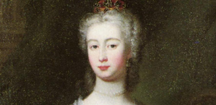 A portrait of Augusta of Saxony-Gotha from the time of her wedding in 1736