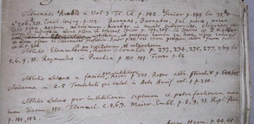 Isaac Newton's Index Chemicus