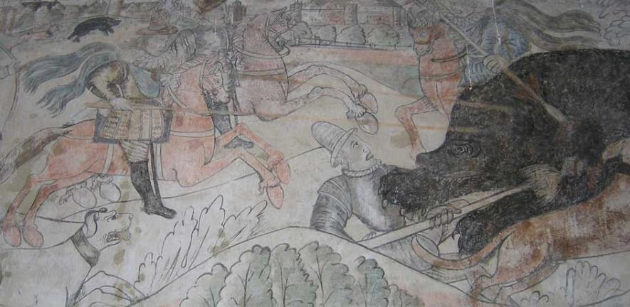 17th-century mural at Madingley Hall