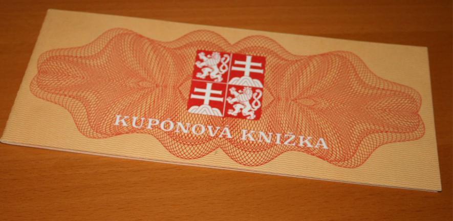 Slovak privatisation voucher.