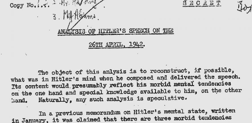 An extract from the original psychoanalysis.