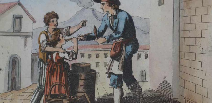 A Sorbet Seller in Naples by Pinelli, c1819