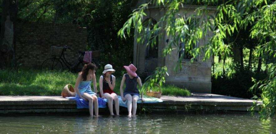 Hodson's Folly on the River Cam opposite Sheep's Green