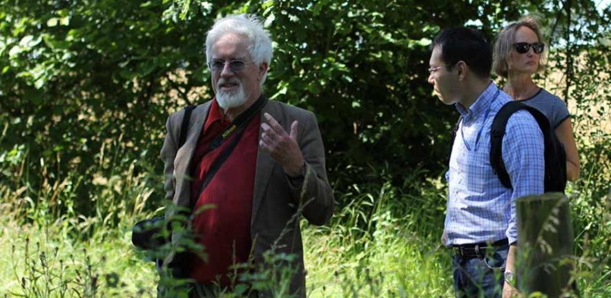 Professor Oliver Rackham leads a visit to Hayley Wood, August 2012