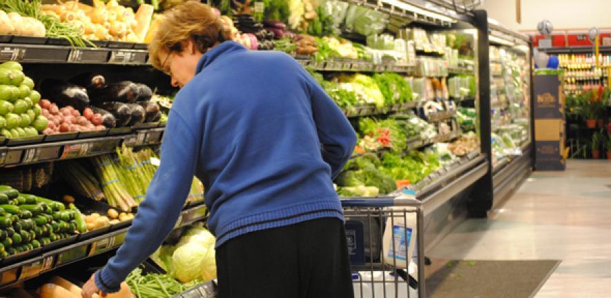 Fresh vegetables at supermarket