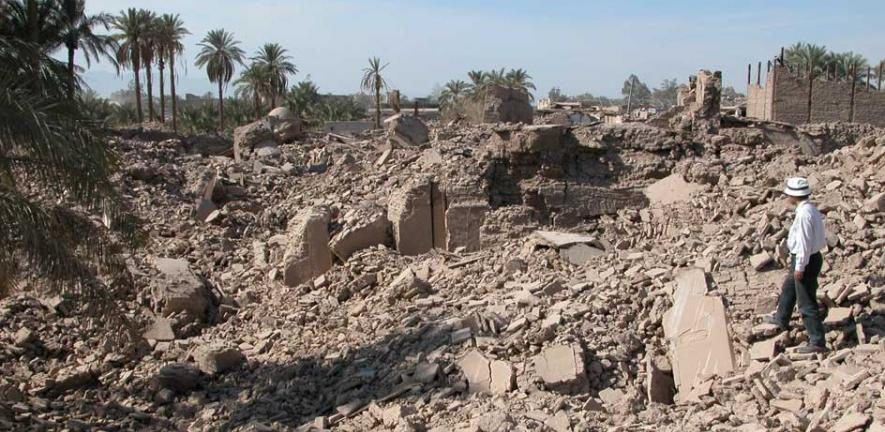 Bam, southeastern Iran, after the 2003 earthquake