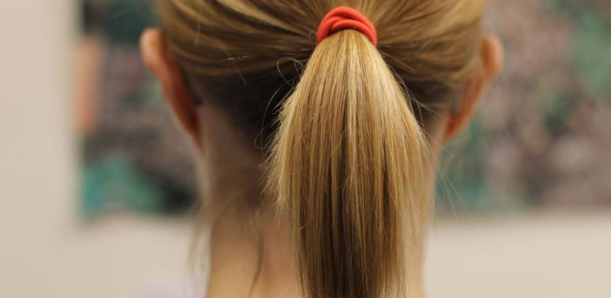 Suvi's ponytail