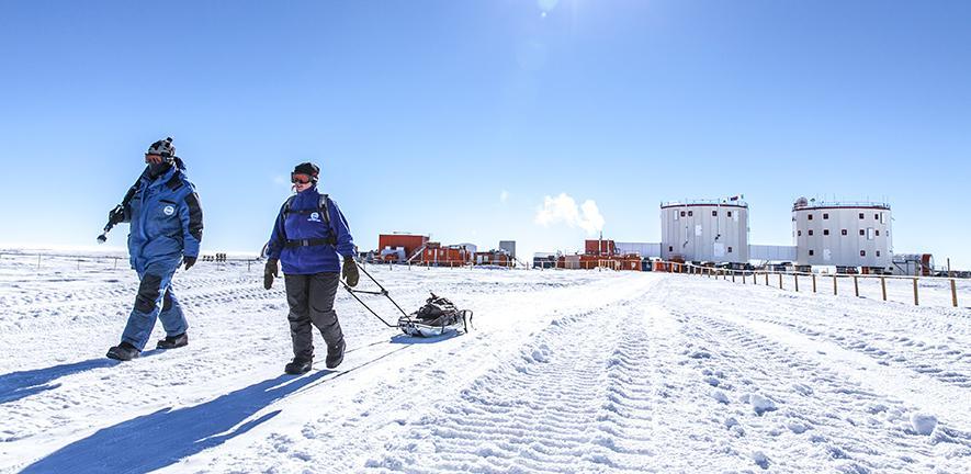 Concordia research station in Antarctica