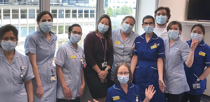 Clinical staff wearing PPE