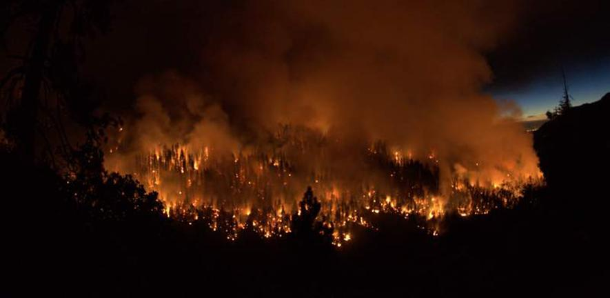 Fire at Sequoia National Park, California