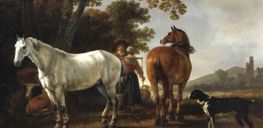 Abraham Pietersz. van Calraet  Landscape with Figures and Horses