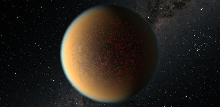 Artist's impression of the exoplanet GJ 1132 b