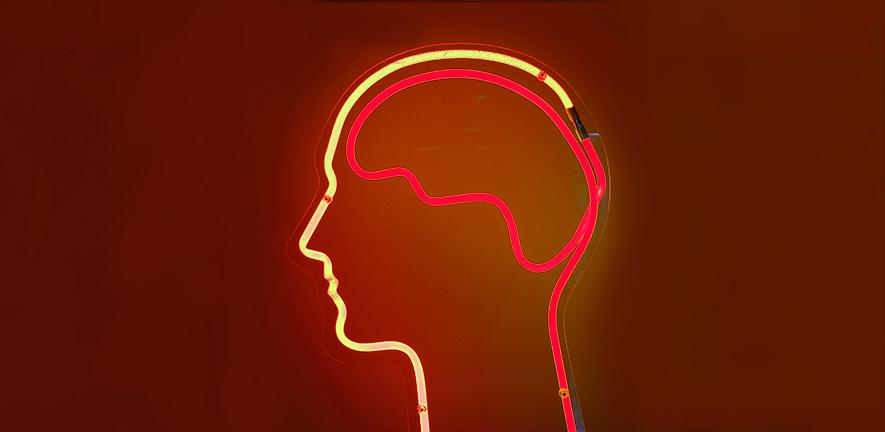 Neon brain by Dierk Schaefer on Flickr (modified)