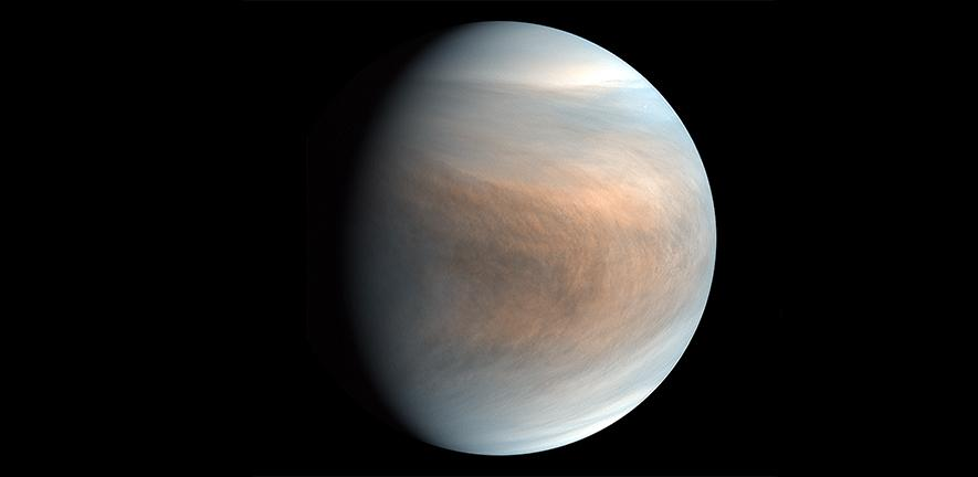 Synthesized false colour image of Venus