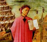 Dante's Divine Comedy shown in a fresco by Michelino