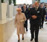Sir Hugh Pelham with HM The Queen