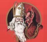Nikolaus and Krampus in Austria (Wikimedia Commons)