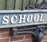 School Road - road sign in Shirley