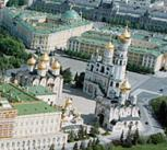 A bird's eye view of the Kremlin, Moscow
