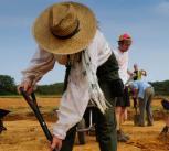 Digging at Ham Hill.