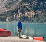 Red Canoes at Lake Louise