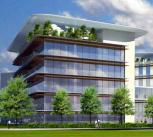Plans (subject to final design selection) of the Heart and Lung Research Institute (left) and new Papworth Hospital