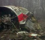 Part of the fuselage of the aircraft which crashed near Smolensk in April 2010.