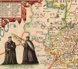 Hand-coloured proof of John Speed's map of Cambridgeshire. Atlas.2.61.1