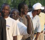 Voters at the southern Sudan referendum