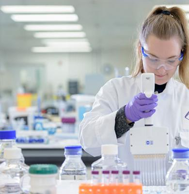 Young woman in lab