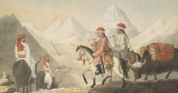 Moorcroft and Hearsay on the road to Lake Mansarowar (Tibet). c.July 1812. © TheBritish LibraryBoard