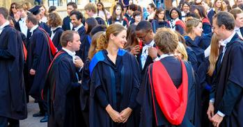 Higher degree graduands outside Senate House