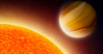 Artist's impression of gas giant exoplanet