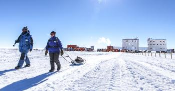 Concordia research station in Antarctica