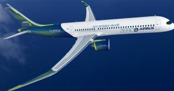 Hydrogen turbofan aircraft