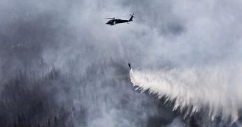 US National Guard working to extinguish wildfires in Alaska