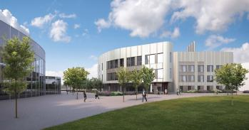 Artist's impression of the Cambridge Heart and Lung Research Institute