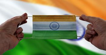 India flag face mask. Image by Gerd Altmann from Pixabay